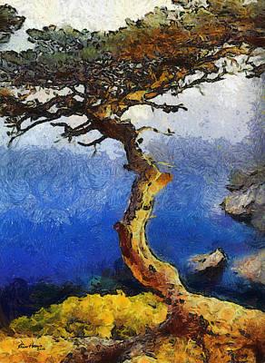 La Jolla Torrey Pines  Poster by Russ Harris