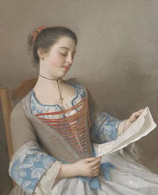 La Liseuse Poster by Jean-Etienne Liotard
