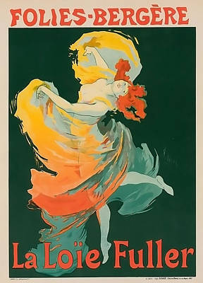 La Loie Fuller Vintage Entertainment Poster Poster by Miranda Sether
