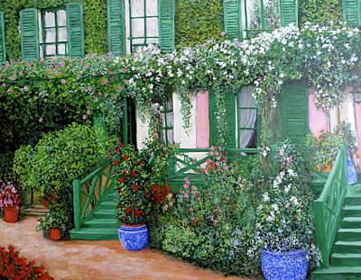 La Maison De Claude Monet Poster by Tom Roderick