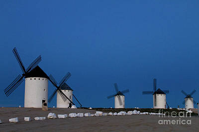 Poster featuring the photograph La Mancha Windmills by Heiko Koehrer-Wagner