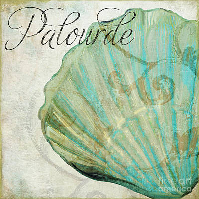 La Mer II Clam Shell Poster by Mindy Sommers