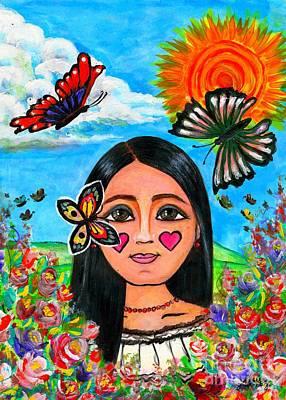 La Nina De Las Mariposas  Poster by Laura  Gomez