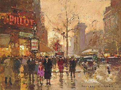 La Porte Saint Poster by Edouard Cortes