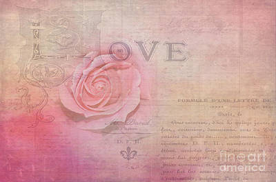 La Rose D'amour By Kaye Menner Poster by Kaye Menner