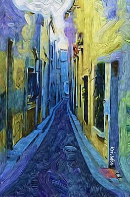 La Rue Danton 3 Paint Poster