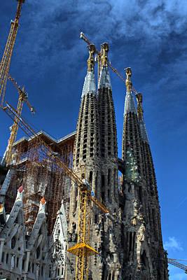 La Sagrada Familia By Antonio Gaudi Poster by Farol Tomson
