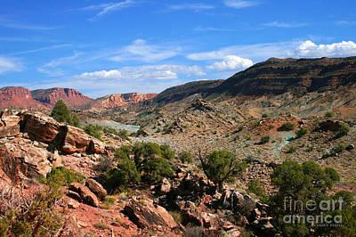 La Sal Canyon Arches National Park Poster