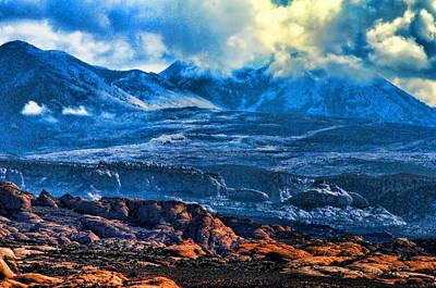 La Sal Mountains Arches National Park Poster