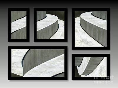 La Stairs Collage 01a Poster by Ausra Huntington nee Paulauskaite