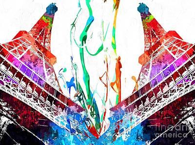 La Tour Eiffel Grunge Poster