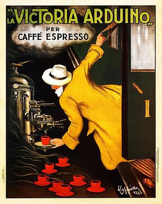 La Victortoria Ardunio Caffe Expresso - Leonetto Cappiello Vintage Ad Poster by Jennifer Rondinelli Reilly - Fine Art Photography