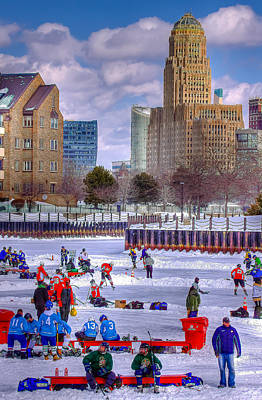 Poster featuring the photograph Labatts Pond Hockey by Don Nieman
