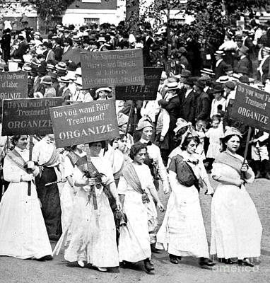 Labor Day Parade, Womens Suffrage, 1912 Poster by Science Source