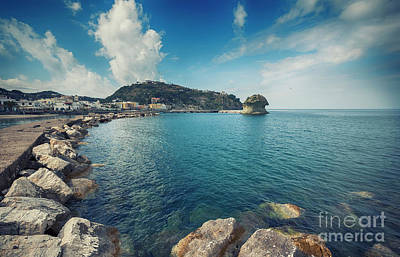 Poster featuring the photograph Lacco Ameno Harbour ,  Ischia Island by Ariadna De Raadt