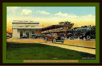Lackawanna Station, Elmira Ny,1920 Poster by Dwight GOSS