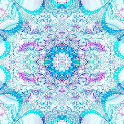 Poster featuring the digital art Lacy Mandala by Bee-Bee Deigner