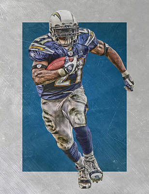Ladianian Tomlinson San Diego Chargers Art 2 Poster by Joe Hamilton