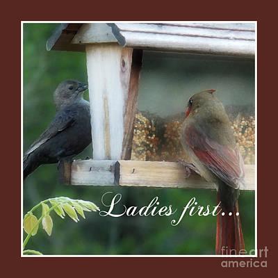 Ladies First Poster by Anita Faye