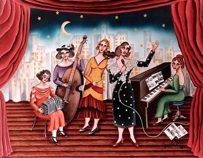 Ladies Orchestra Poster by Graciela Bello