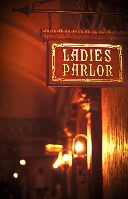 Ladies Parlor Poster by Carolyn Marshall