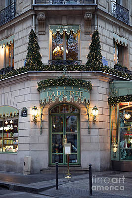 Paris Laduree Christmas Holiday Lights - Paris Laduree Christmas Holiday Lights Poster