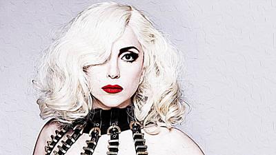 Lady Gaga Poster by Iguanna Espinosa