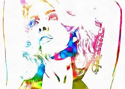 Lady Gaga Watercolor Poster by Dan Sproul