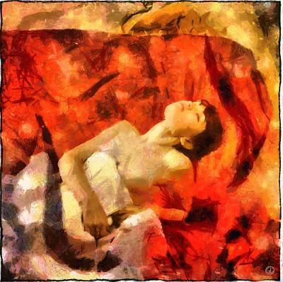 Lady In Red Poster by Gun Legler
