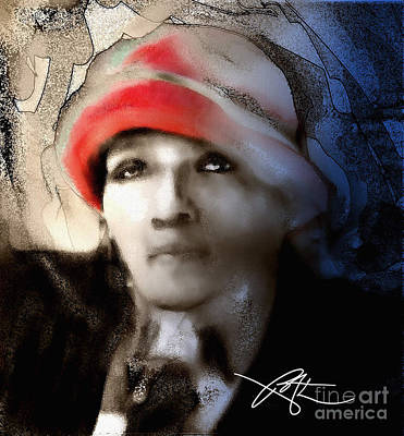 Lady In The Red Hat Poster by Bob Salo