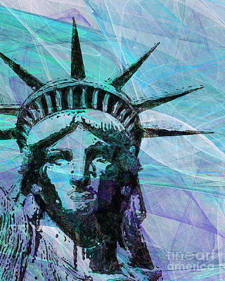Lady Liberty Head 20150928p150 Poster by Wingsdomain Art and Photography
