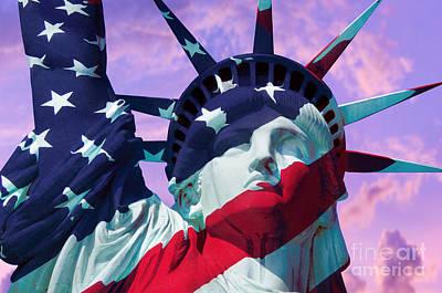 Lady Liberty Patriot Poster