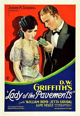 Lady Of The Pavements 1929 Poster by Mountain Dreams