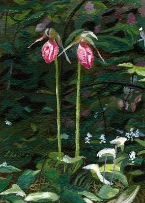 Poster featuring the painting Lady Slipper by Lynne Reichhart