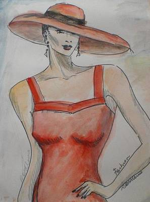 Lady Witht The Hat Poster