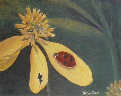 Poster featuring the painting Ladybug by Betty-Anne McDonald