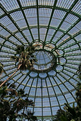 Laeken Belgium Internal View Of The Big Greenhouse Dome So Called Jardins Dhiver  Poster by Jean Pol GRANDMONT
