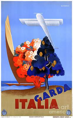 Lago Di Garda Lake Garda Italy Vintage Poster Poster