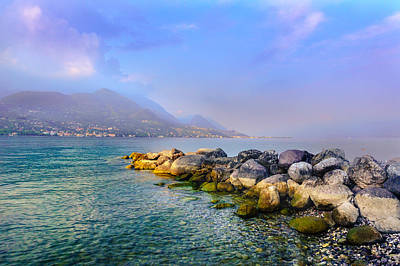 Poster featuring the photograph Lago Di Garda. Stones by Dmytro Korol