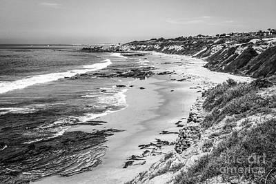 Laguna Beach Ca Black And White Photography Poster