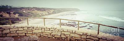 Laguna Beach Crystal Cove Overlook Panorama Poster by Paul Velgos