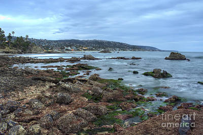 Laguna Beach Shoreline At Low Tide Poster by Eddie Yerkish
