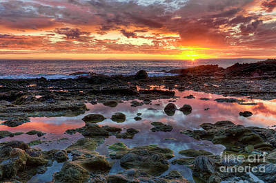 Poster featuring the photograph Laguna Beach Tidepools At Sunset by Eddie Yerkish