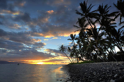 Lahaina Sunset Poster by James Roemmling