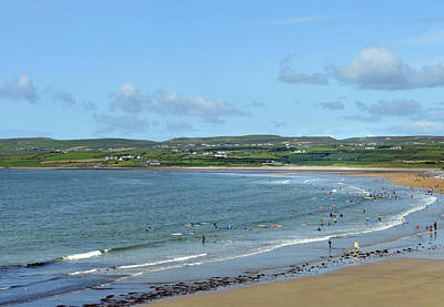Poster featuring the photograph Lahinch Beach by Terence Davis