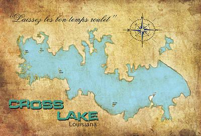 Poster featuring the digital art Laissez Les Bon Temps Roulet - Cross Lake, La by Greg Sharpe