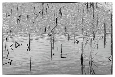 Poster featuring the photograph Lake Abstract by Carolyn Dalessandro