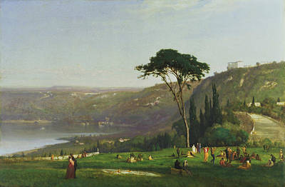 Lake Albano Poster by George Inness