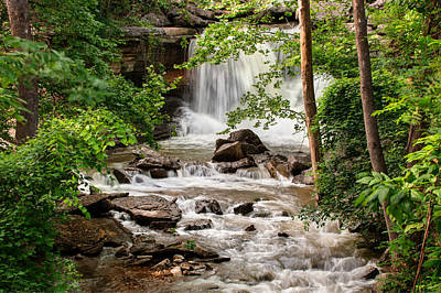 Lake Ann Waterfall - Bella Vista Arkansas Poster by Gregory Ballos