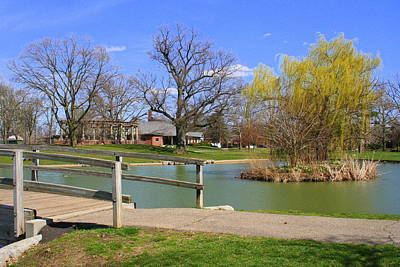 Lake At Schiller Park Poster